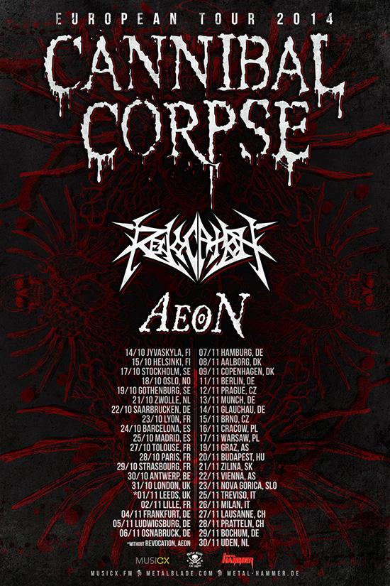 Cannibal Corpse European Tour Dates